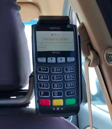 チャーリーズタクシーのクレジットカード決済