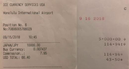 ハワイでレートが安い両替所やチップの相場について