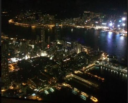 リッツカールトン香港からの夜景