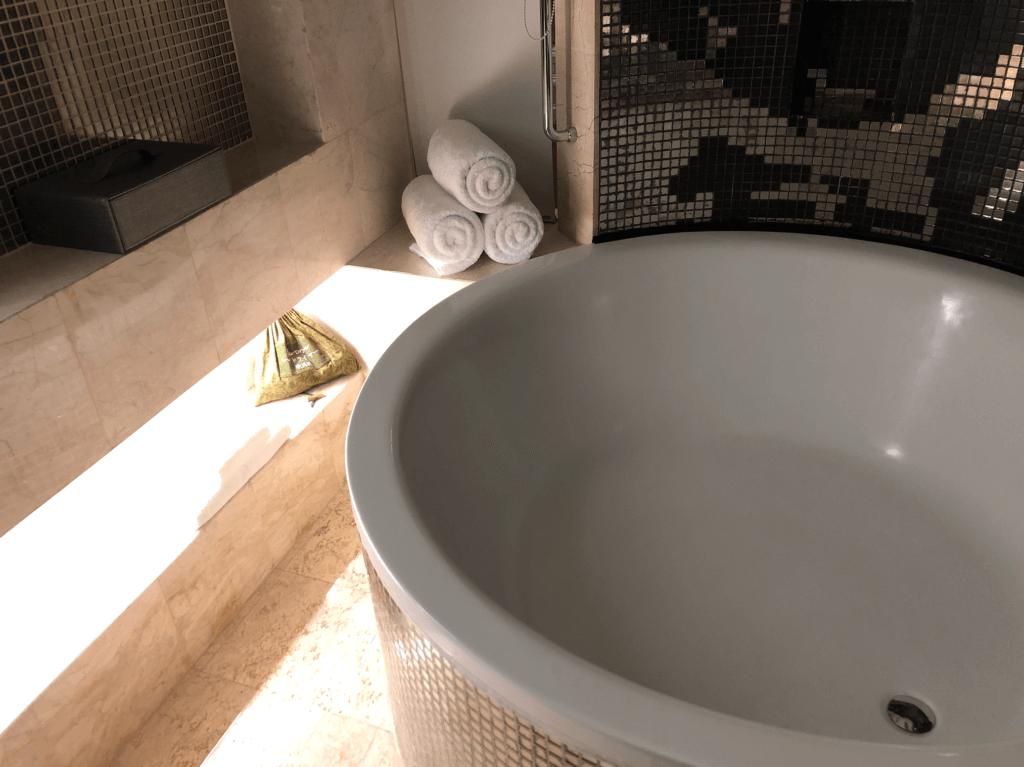 リンバホテルのバスルーム