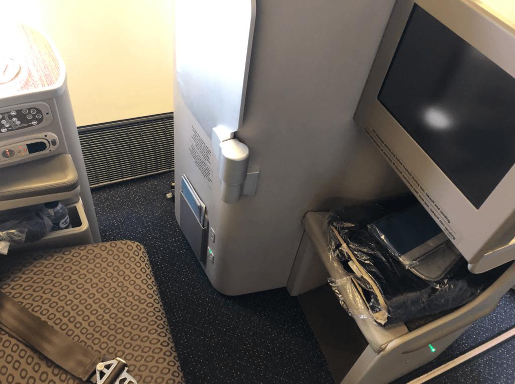 ガルーダ航空ビジネスクラスの座席
