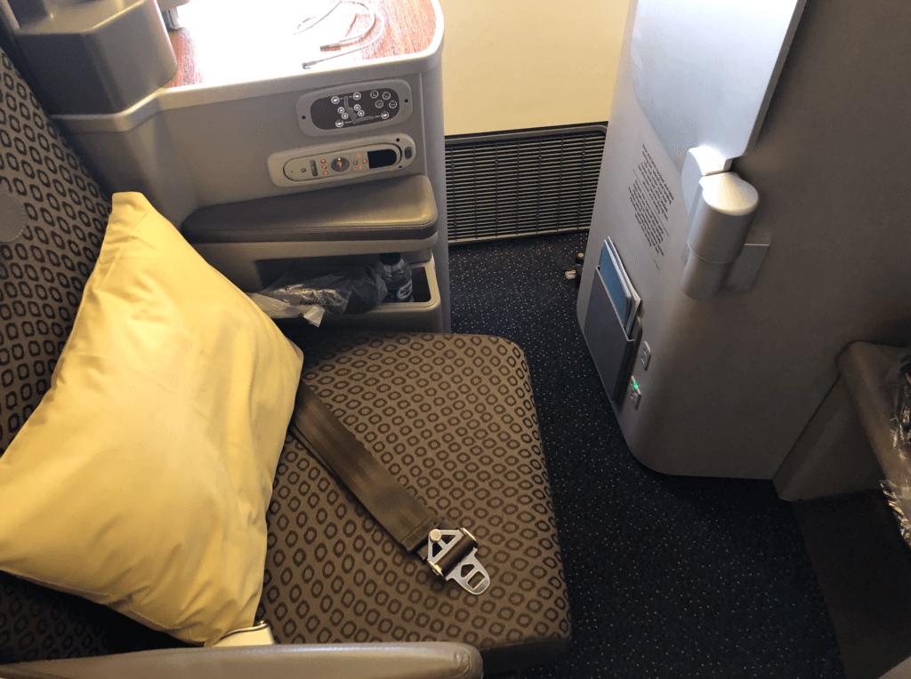 ガルーダ航空ビジネスクラスのシート
