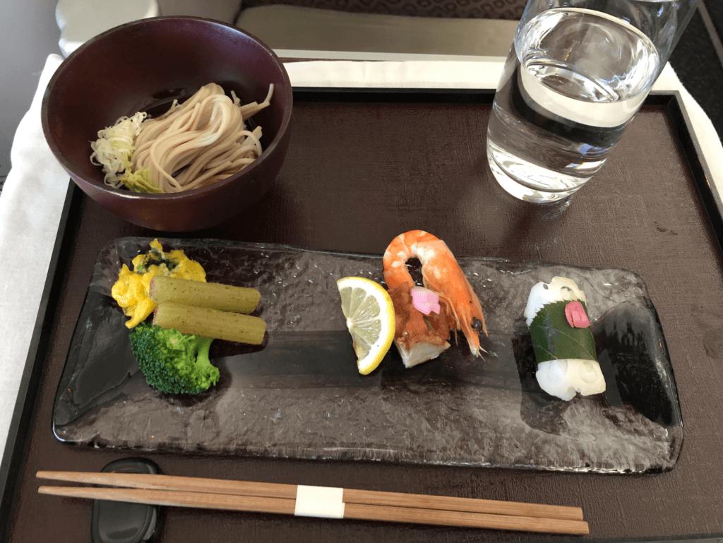 ガルーダ航空ビジネスクラスの機内食・和食の前菜